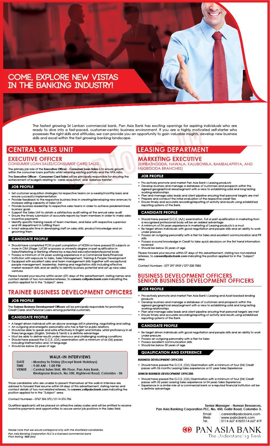 Business Development Executive In Bank Job Description Job Retro
