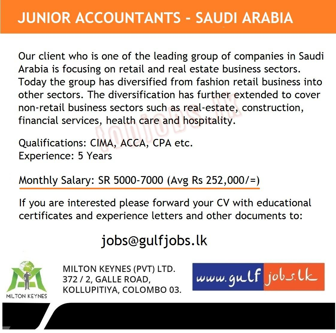 Accountants Saudi Jobs in Saudi Arabia