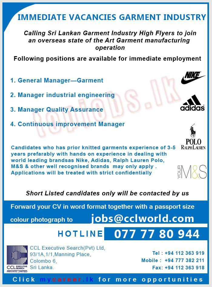 Vacancy Advertisement