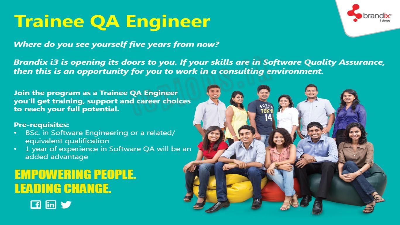 vacancy advertisement trainee qa engineer